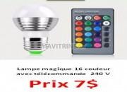 Photo de l'annonce: lampe magique a 16 couleur avec télécommande