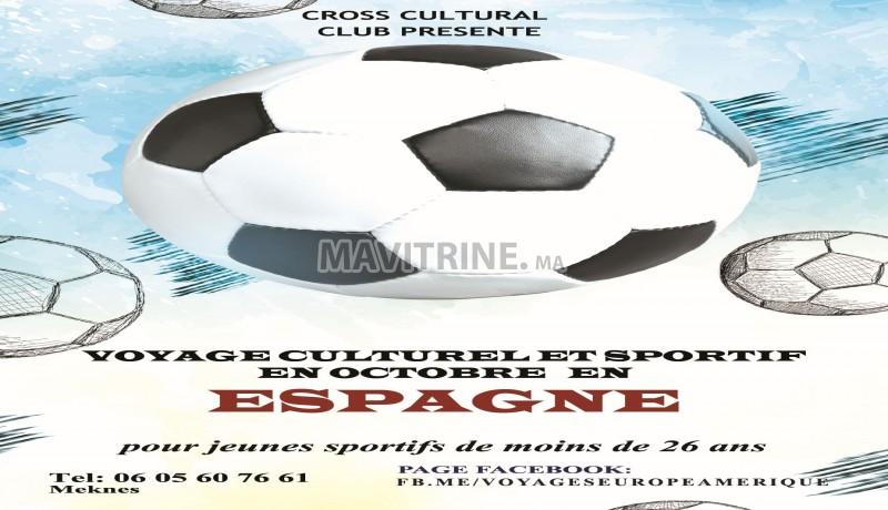 Voyage sportif organisé en groupe vers l'Espagne