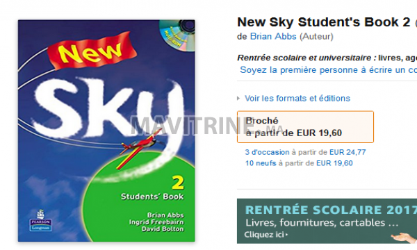 English books SKY avec 2 CDs