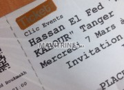 Photo de l'annonce: 2 Ticket VIP pour le spectacle de Hassan El Fed TANGER.