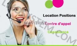 location une plateforme composée des positions pour call center