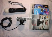 Photo de l'annonce: Camera, manette move et 3 jeux PS3