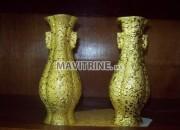 Photo de l'annonce: 2 vases dorré.