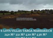 Photo de l'annonce: 6 lots zone villas à vendre: Targa: Marrakech
