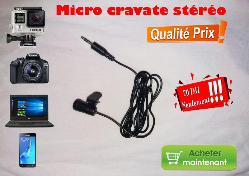 Micro cravate stéréo neuf pour toutes appareils audio vidéos