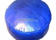 Photo de l'annonce: Pouf marocain en cuir véritable 100/100