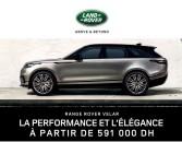 Range Rover Velar, la performance et l'élégance à partir de 591 000 DH.