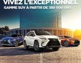 LEXUS Experience Amazing. Vivez l'Exceptionnel Gamme SUV à partir de 389 000 DHs