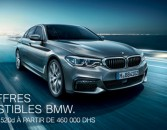 Les offres irrésistibles de BMW... BMW Série 5 20d à partir de 460.000 DHS