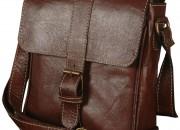 Photo de l'annonce: Sac besace cuir véritable marron café